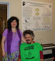 Dr. Petr Janata welcoming Rozalina Gutman (C.H.A.R.I.S.M.A. Foundation) at his Neuro-science Lab, part of Center for Mind & Brain, UC Davis