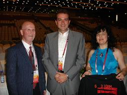 Graham Welch, ISME President & Polyvios Androutsos, Chair of upcoming 30th World Conference, Greece, 2010